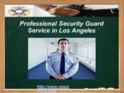 Professional Security Guard Service in Los Angeles