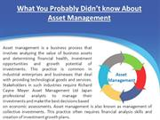 What You Probably Didn't know About Asset Management
