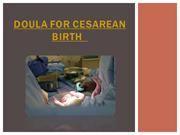 Doula for Cesarean Birth