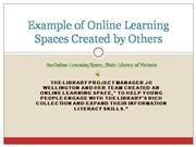 Example of Online Learning Spaces