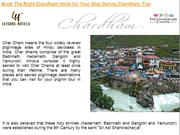 Book The Right Chardham Hotel for Your Stay During Chardham Trip