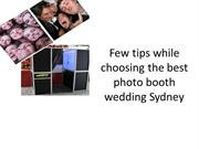 photo booth wedding Sydney