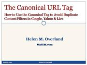 How to Use the Canonical URL Tag to Avoi