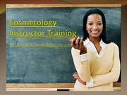 Cosmetology Instructor Training