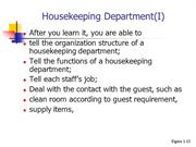 housekeeping ppt