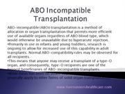 How is ABO Incompatible Kidney Transplant - Forerunners Healthcare