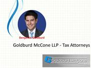 Goldburd McCone LLP - Tax Issues