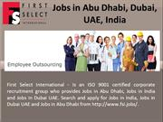 Jobs in Abu Dhabi, Dubai, UAE, India