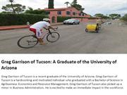 Greg Garrison of Tucson- A Graduate of the University of Arizona