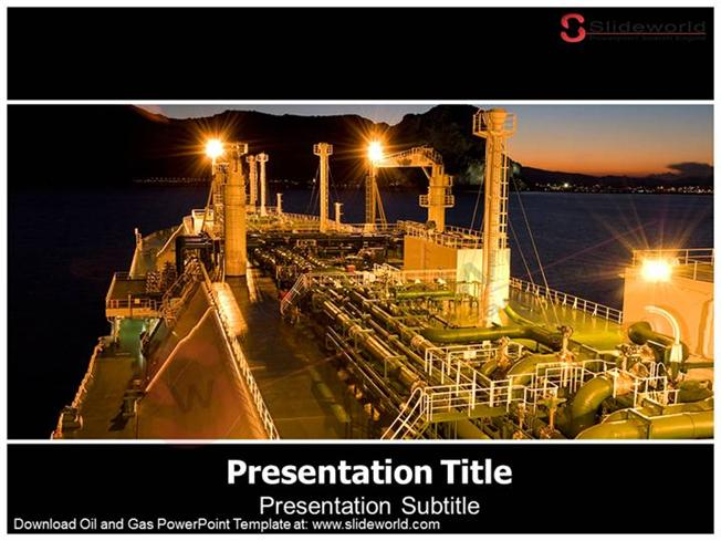oil and gas powerpoint template – slide world |authorstream, Presentation templates