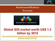 Silicon-on-Insulator (SOI) Market Trends and Global Forecasts to 2015