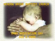 baby dedication part 1