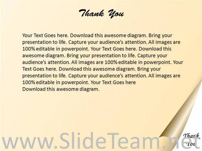 powerpoint thank you card template