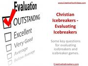Christian Icebreakers - Evaluating Icebreakers