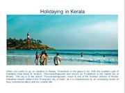Holidaying in Kerala