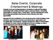 Corporate Events and Entertainment