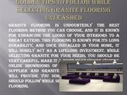 Golden tips to follow while selecting Granite Flooring