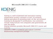 Dynamics CRM 2011 Combo Training