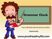 Online grammar check services on proofreadmyfile