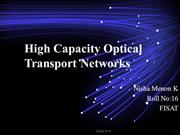 High Capacity Optical networks