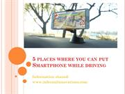 Places where you can put your smartphones while driving