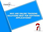 Why are Online Training Solutions Best for Software Applications?