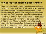 How to recover lost iphone notes