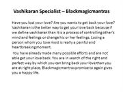 Black Magic Mantra - love spells