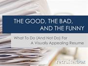 What to Do (And Not Do) for a Visually Appealing Resume