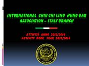 Activity Book 2013-2014 Chiu Chi Ling Italy Branch