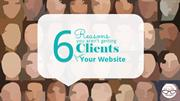 6 Reasons You Aren't Getting Clients from Your Website