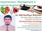 hypertension- Management in  special situation