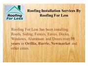 Roofing Installation Services by Roofing For Less