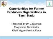 KVK Karur - Opportunities for Farmer Producers Organizations in Tamil
