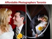 Affordable Photographers Toronto