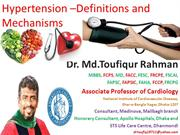hypertension -definition, etiology and  mechanism