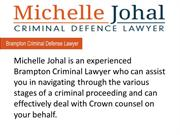 Michelle Johal Criminal Defence Lawyer Brampton