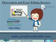 Dissertation and Essay Editing Services