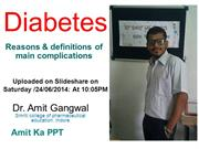 Diabetes Dr. Amit Gangwal
