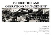 Introduction to Production and Operation Management
