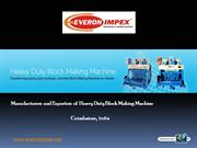 Heavy Duty Block Making Machine Manufacturers in India