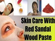 Skin Care With Red Sandal Wood Paste