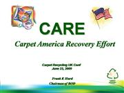 CARE - Carpet America Recovery Act