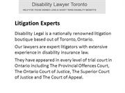 Disability Legal Disability Lawyer in Toronto