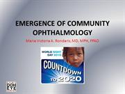 Emergence of Community Ophthalmology