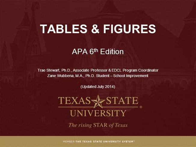 module 6 tables figures apa 6th ed authorstream