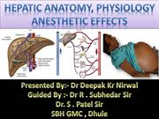 hepatic physiology and anaesthetic consideration