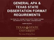 Module 10 - General APA & Texas State University Dissertation