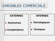 Variables comercials