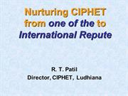 Progress of CIPHET during 2006-11
